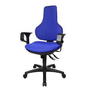 Bürodrehstuhl Ergo Point SY - Mit Armlehnen - Blau, Topstar