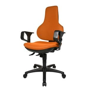 Bürodrehstuhl Ergo Point SY - Mit Armlehnen - Orange, Topstar