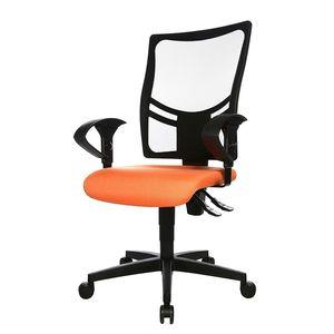 Bürodrehstuhl Net Point 10 - Mit Armlehnen - Schwarz / Orange, Topstar