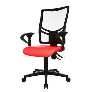 Bürodrehstuhl Net Point 10 - Mit Armlehnen - Schwarz / Rot, Topstar