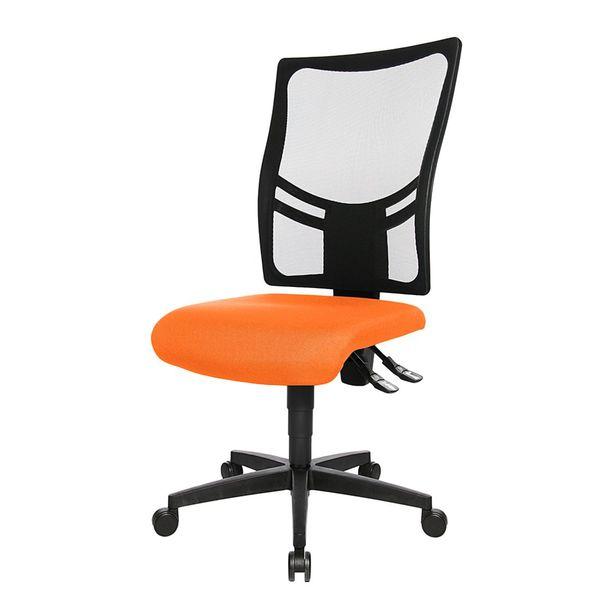 Bürodrehstuhl Net Point 10 - Ohne Armlehnen - Schwarz / Orange, Topstar