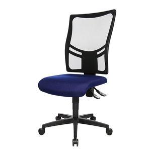 Bürodrehstuhl Net Point 10 - Ohne Armlehnen - Schwarz / Blau, Topstar