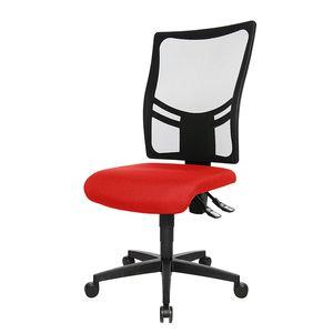 Bürodrehstuhl Net Point 10 - Ohne Armlehnen - Schwarz / Rot, Topstar