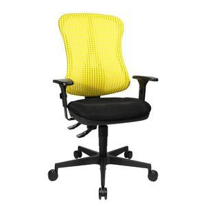 Bürodrehstuhl Head Point - Höhenverstellbare Armlehnen - Ohne Kopfstütze - Gelb / Schwarz, Topstar