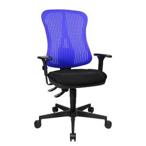 Bürodrehstuhl Head Point - Höhenverstellbare Armlehnen - Ohne Kopfstütze - Blau / Schwarz, Topstar