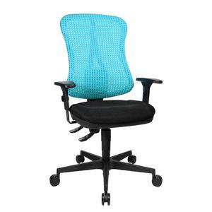 Bürodrehstuhl Head Point - Höhenverstellbare Armlehnen - Ohne Kopfstütze - Hellblau / Schwarz, Topstar