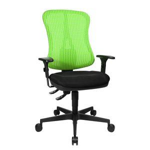 Bürodrehstuhl Head Point - Höhenverstellbare Armlehnen - Ohne Kopfstütze - Grün / Schwarz, Topstar