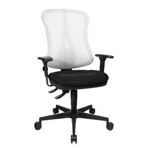 Bürodrehstuhl Head Point - Höhenverstellbare Armlehnen - Ohne Kopfstütze - Weiß / Schwarz, Topstar
