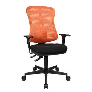 Bürodrehstuhl Head Point - Höhenverstellbare Armlehnen - Ohne Kopfstütze - Rot / Schwarz, Topstar