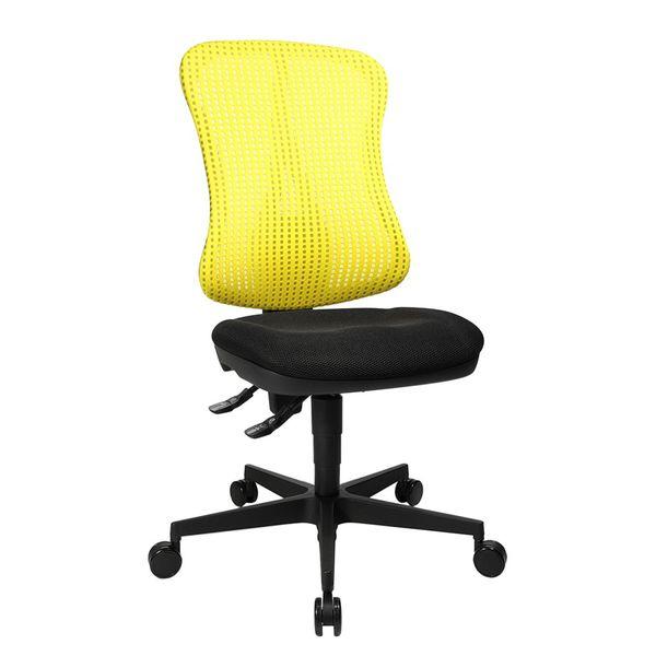 Bürodrehstuhl Head Point - Ohne Armlehnen - Ohne Kopfstütze - Gelb / Schwarz, Topstar