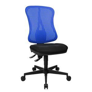 Bürodrehstuhl Head Point - Ohne Armlehnen - Ohne Kopfstütze - Blau / Schwarz, Topstar