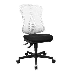 Bürodrehstuhl Head Point - Ohne Armlehnen - Ohne Kopfstütze - Weiß / Schwarz, Topstar