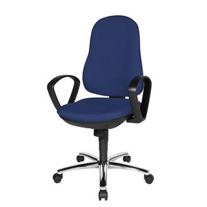 Bürostuhl Syncro Steel - Textilbezug - Blau/Schwarz, Topstar