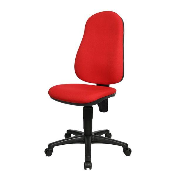 Bürostuhl Point 60 - Rot/Schwarz, Topstar
