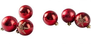 Christbaumkugeln - aus Kunststoff - rot - 30 Stück