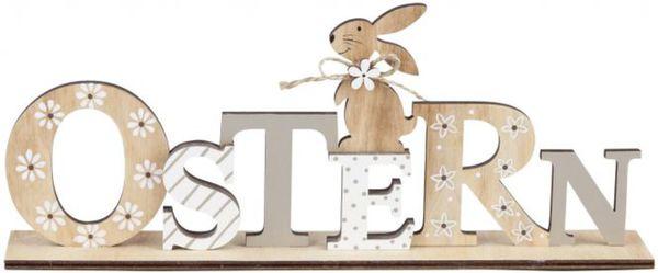 deko schriftzug ostern aus holz 29 5 x 12 x 4 5 cm von rofu ansehen. Black Bedroom Furniture Sets. Home Design Ideas