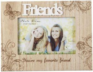 Bilderrahmen - für 1 Foto à 15x10 cm - Friends - aus Holz - 22x1x17 cm