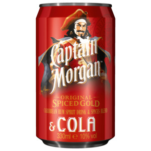 Captain Morgan Original Spiced Gold & Cola 330ml