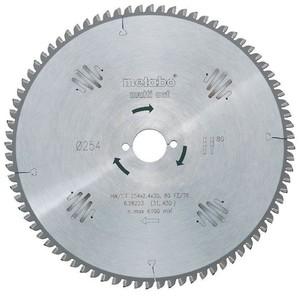 Metabo Kreissägeblatt 254x30 mm Multi Cut 80 FZ/TZ, 5° neg.