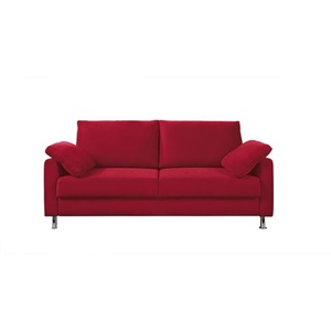 Schlafsofa Stoffbezug Rot ca. 166 x 90 x 95 cm