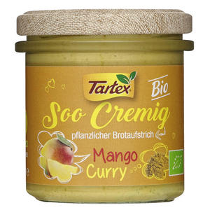 Tartex Bio Soo Cremig Mango Curry pflanzlicher Brotaufs 1.56 EUR/100 g