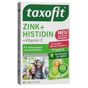 taxofit ZINK + HISTIDIN + Vitamin C Tabletten 11.53 EUR/100 g