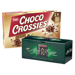 Nestle Choco Crossies, Choclait Chips versch. Sorten oder After Eight jede 150/115/200-g-Packung