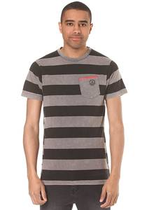 Neff Christoph Washed Stripe - T-Shirt für Herren - Grau