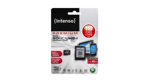 Intenso MicroSDHC 16GB, Class 10, UHS-I, inkl. Adapter