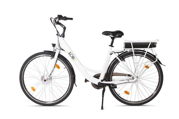Alu Elektro City Bike, 28 Blanche Deux - inklusive 1 Jahr Mobilitätsgarantie LLobe