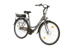 Alu Elektro City Bike, 28 Noir - inklusive 1 Jahr Mobilitätsgarantie LLobe