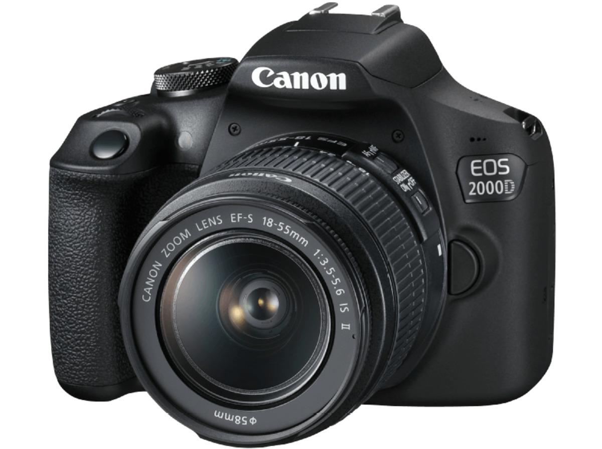 Bild 2 von CANON EOS 2000D Kit Spiegelreflexkamera, 24.1 Megapixel, Full HD, CMOS Sensor, Near Field Communication, WLAN, 18-55 mm Objektiv (EF-S, IS II), Autofokus, Schwarz