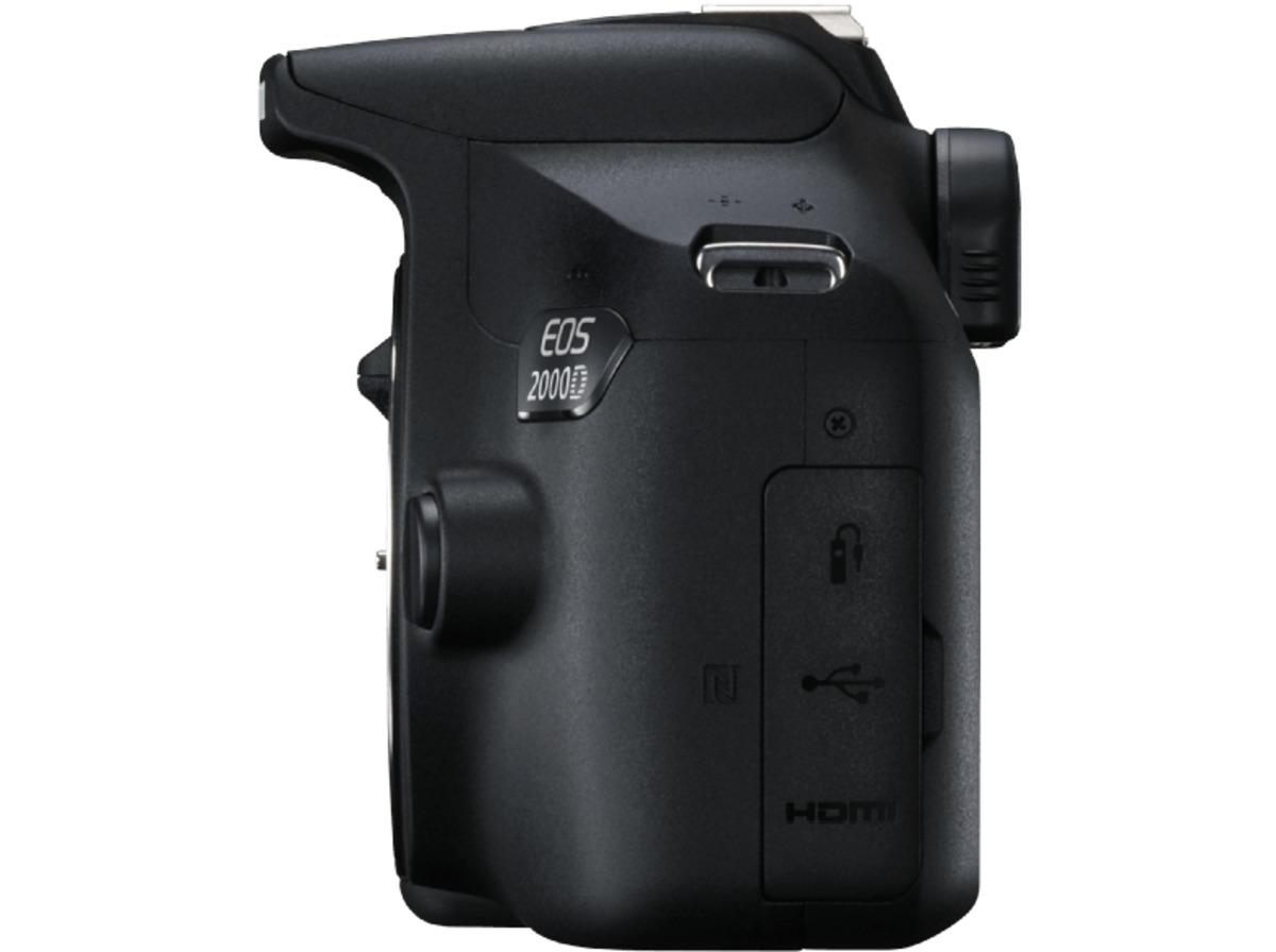 Bild 4 von CANON EOS 2000D Kit Spiegelreflexkamera, 24.1 Megapixel, Full HD, CMOS Sensor, Near Field Communication, WLAN, 18-55 mm Objektiv (EF-S, IS II), Autofokus, Schwarz