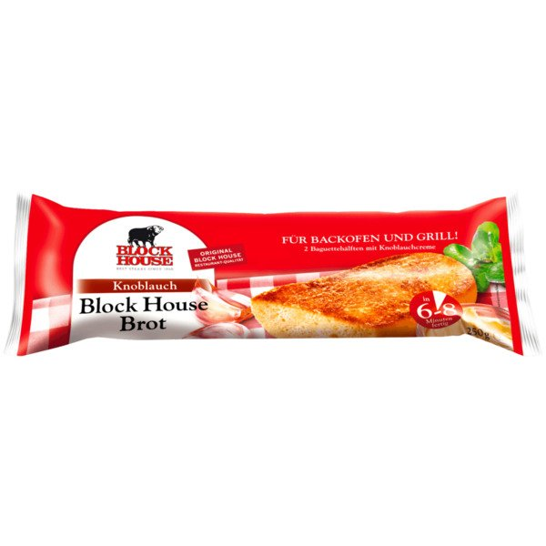 Block House Brot Knoblauch 250g