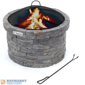 Tepro Feuerstelle Gladstone Steinoptik grau/anthrazit