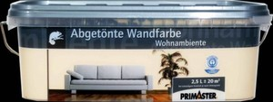 Primaster Wandfarbe Wohnambiente ,  aprikose, 2,5 l