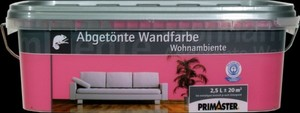 Primaster Wandfarbe Wohnambiente ,  himbeere, 2,5 l