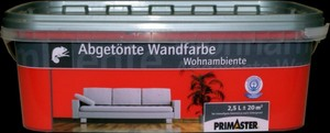 Primaster Wandfarbe Wohnambiente ,  rot, 2,5 l