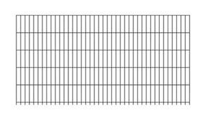 GAH-Alberts Doppelstab-Gittermatte ,  1000 x 2000 mm, verzinkt, anthrazit-metallic kunststoffbeschichtet RAL 7016