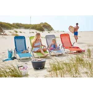 Bäderliege / Kippliege BEACH Stahl mit Outdoorbezug Blau