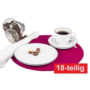 Seltmann Weiden Kaffeeservice 18 teilig LIDO Black Line