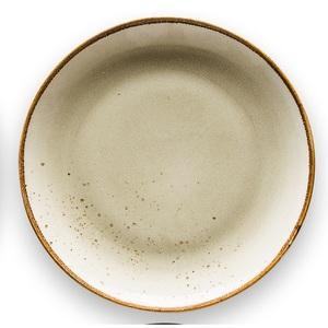 CREATable Teller tief /Suppenteller Ø 22 cm NATURE COLLECTION Earth Sandbeige
