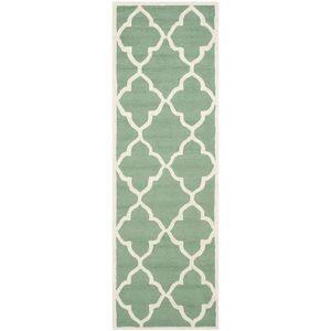 Teppich Noelle handgetuftet - Wolle - Mintgrün - 76 x 243 cm, Safavieh