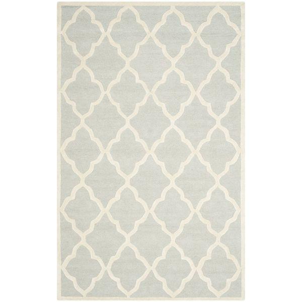 Teppich Noelle handgetuftet - Wolle - Schwedisch Weiß - 152 x 243 cm, Safavieh