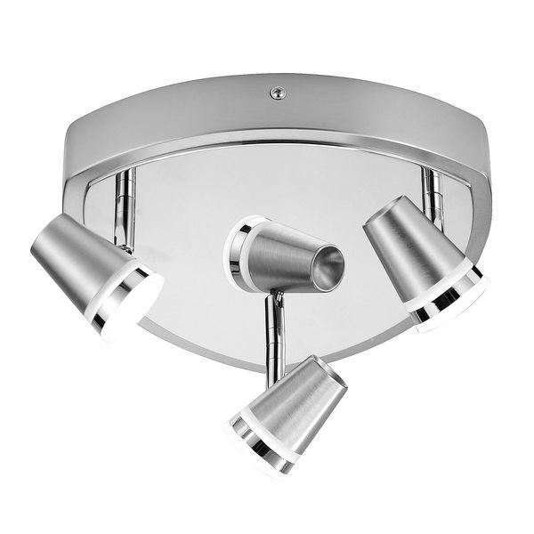 EEK A++, Deckenleuchte Ring - Eisen - Silber - 3-flammig, Paul Neuhaus