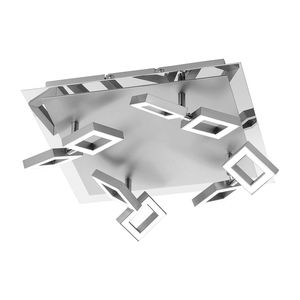 EEK A+, LED-Deckenleuchte Twins - Eisen - Silber, Paul Neuhaus