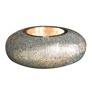 EEK A++, Tischleuchte Affections Blau - Metall - 4-flammig, Näve