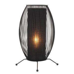 EEK A++, Tischleuchte Wired - Metall/Textil - Schwarz - 1-flammig, Näve