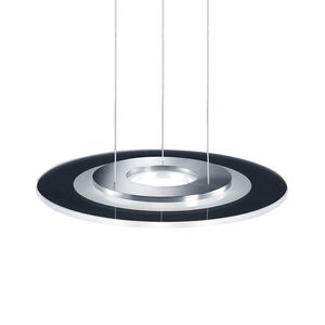 EEK A+, LED-Pendelleuchte Alide II Metall - Silber, Helestra