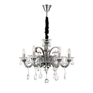EEK A++, Pendelleuchte Dunja - Metall - Silber - 6-flammig, Globo Lighting